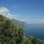 beautiful views on the drive to positano