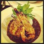 Jumbo prawn dish