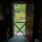 View out the font door- the door and all the windows can be left open