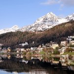A view of St. Moritz