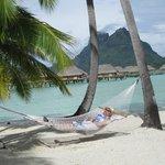 Relaxing at the Pearl Beach Resort