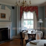 Part of the charming dining room