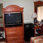 TV, frigobar y microondas