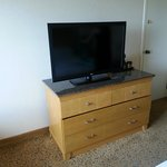 Great TV and roomy dresser