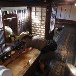 The quaint sinks at Ryokan Echigoya