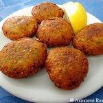 Fried chickpea balls!  #Lefkiano
