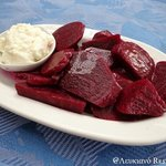 Beetroot with garlic sauce! # Lefkiano
