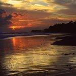 Sunset on the Black Sand Beach