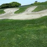 A bunker on #9, May 28, 2013.