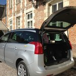 Our car on the driveway - ample parking available