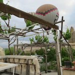 Balloon over the Breakfast Terrace