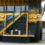 A 200-tonne ore haul truck from the Superpit
