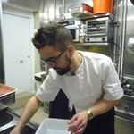 chef Camille Thibault in the kitchen : delicious cuisine made with fresh quality products...