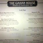 More of the menu