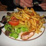 jambon frites