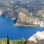 View of Assos from Fortress above