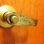 door handle in the bathroom