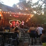Patio area with great easy jazz entertainment from the Jitterbug Vipers