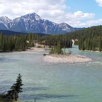 Athabasca River near Jasper House Bungalows