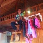 The loft in the cabin!