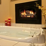 Ensuite Jacuzzi and Fireplace