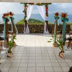 ceremony space - beautiful decorations and views