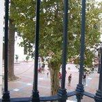 Balcony facing the plaza