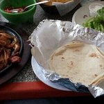 Pretty good food.  Had the fajitas, different from what I have had before but good.