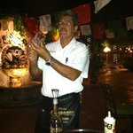 Salvador our head waiter. Excellent personality and friendly!