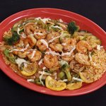 """""""Mil Amores"""" - Shrimp, rice and vegtable dish."""