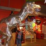 Dino made of aluminum
