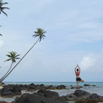 Yoga in a natural setting