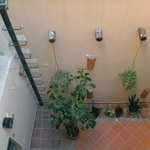 vista aérea del segundo patio