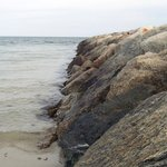 Rock area by the beach