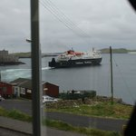the view of the ferry leaving the pier fro room 6