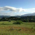 Vista dei dintorni di Villa Pieve dalla strada di ritorno da Corciano alle 7 di mattina