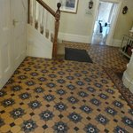 Stunning tiled floored lobby