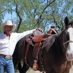 World-class Horse Trainer Clay Harper and his longtime partner Bad Dog