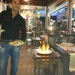 Flaming Amphora kebab - Very showy!!