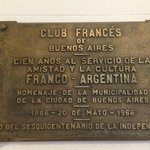 Plaque at entrance of club