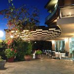 Restaurant of Souris Hotel in Evia Rovies Greece