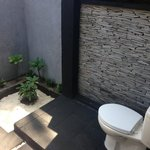 Cute outdoor washroom
