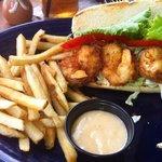 Coconut shrimp sandwich