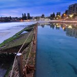 Location shot Cronulla Beach enclosed natural pool