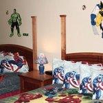 Superhero Poolside Room