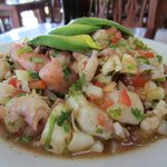 The Special Mixed Ceviche w/ conch. Absolutely delicious.
