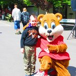 Grandson with mascot