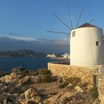 Classic Greek windmill in Parikia