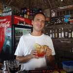 Jimmy, the owner, making the famous Rum Punch!