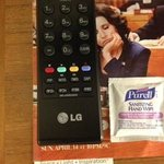 Wipe for cleaning TV remote